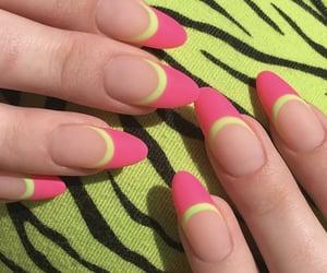 green, nails, and pink image