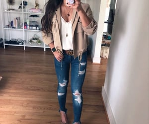 jacket, jeans, and outfit image