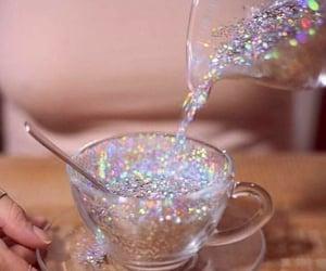 glitter, aesthetic, and tea image