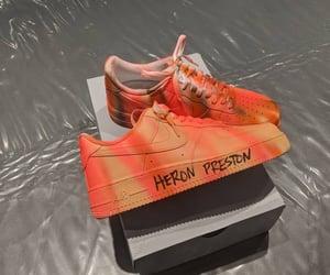 air max, orange, and sneakers image