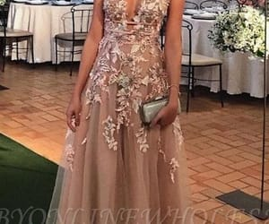 a-line prom dress, prom dress for cheap, and modest prom dress image