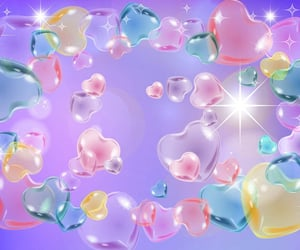 hearts, pastel, and wallpaper image