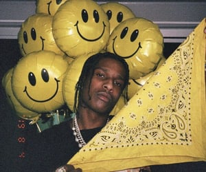 rappers, yellow, and asap rocky image
