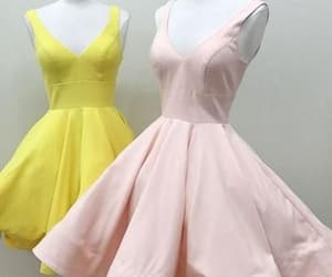 dress, gown, and yellow image