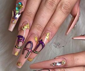 nails, art, and bad bunny image