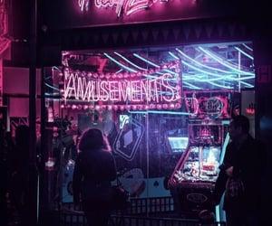 city, glow, and light image
