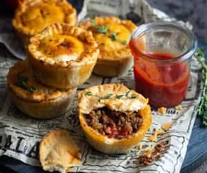 food, food photography, and pies image