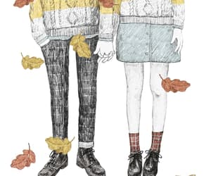 autumn, leaves, and love image
