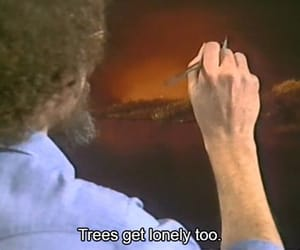 bob ross and trees image