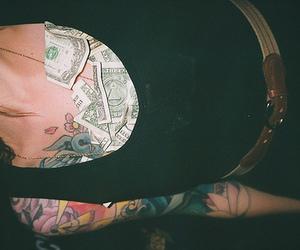 money, girl, and tattoo image