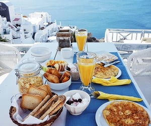 beach, breakfast, and beautiful image