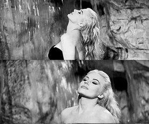 anita ekberg, black and white, and diva image