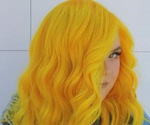 dye, fashion, and yellow image