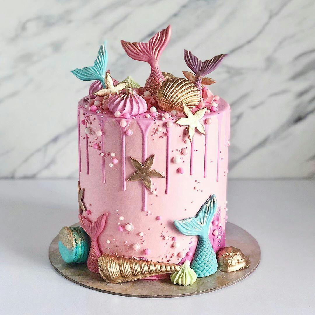 Groovy Mermaid Birthday Cake From Instagram Uploaded By F A I Personalised Birthday Cards Veneteletsinfo