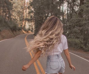 adventure, forest, and hair image