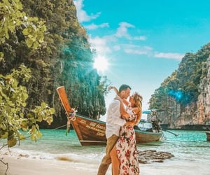 couple, thailand, and travel image