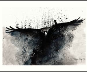 watercolor and crow art image