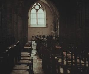 dark, black, and church image