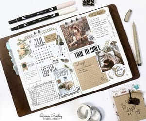 diary, idea, and inspiration image