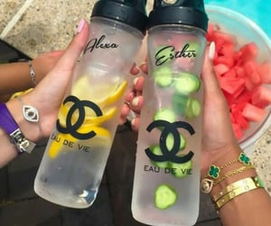 chanel, fruit, and drink image