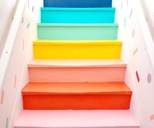 colorful, colors, and stairs image