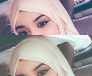 make up مكياج, hijab veil, and accessories اكسسوارات image