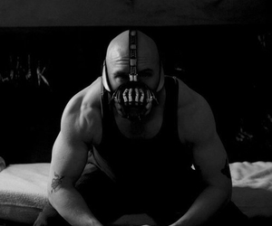 tom hardy, bane, and batman image
