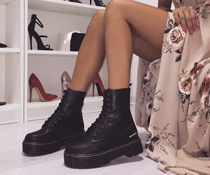 black, boots, and doc martens image