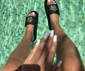 nails, polish, and summer image