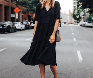 black dress, blogger, and dress image