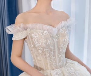 beading, bride, and bridal image