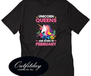 queens, t shirt, and unicorn image