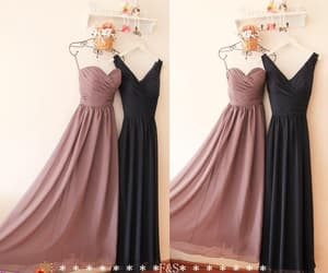 etsy, long chiffon dress, and grey bridesmaid dress image