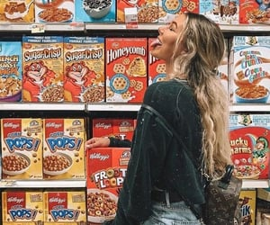 cereal, girl, and outfit image