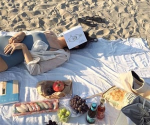 beach, aesthetic, and food image