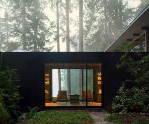 architecture, cabin, and home image