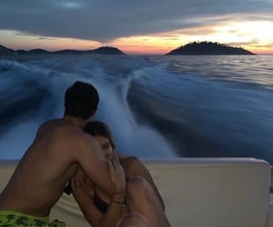 boat, summer, and couple image