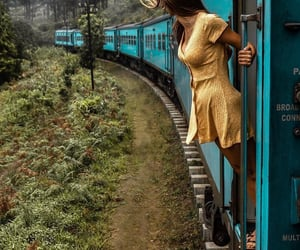 train, travel, and girl image