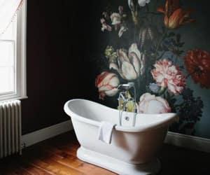 bathroom, interior, and art image