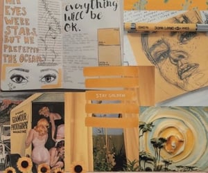 yellow, Collage, and wallpaper image