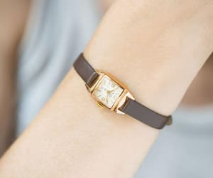 etsy, anniversary gift her, and women watch gold image