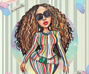 art, b, and beyonce knowles image