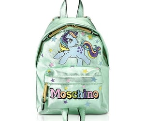 bag, my little pony, and Moschino image