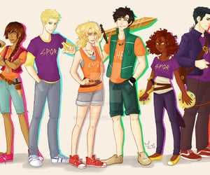 percy jackson, heros of olympus, and the seven from hoo image