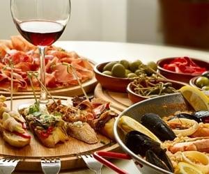 food, wine, and italian image