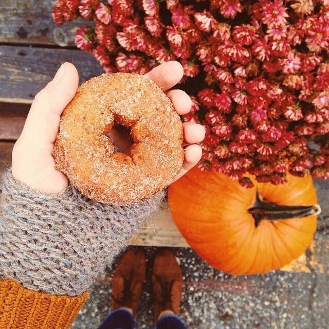 donuts, jack o lantern, and Apple Pie image