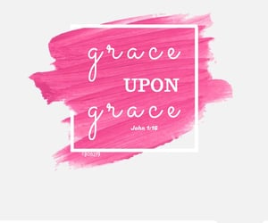 faith, grace, and pink image