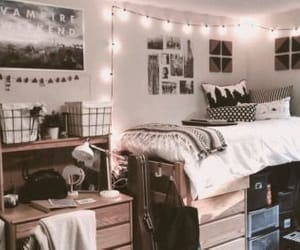 aesthetic, college, and college dorm image