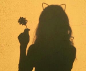 yellow, shadow, and girl image
