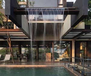 architecture, tropical vibes, and house goals image